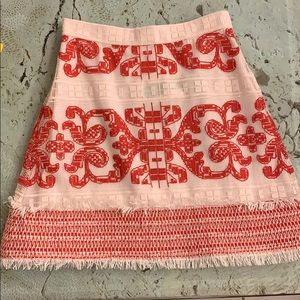 Alexis anzel embroidered skirt